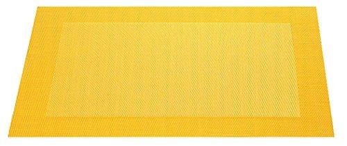 ASA 78073076 Set de Table Bordé, Matériel Synthétique, Jaune, 9x12x16 cm