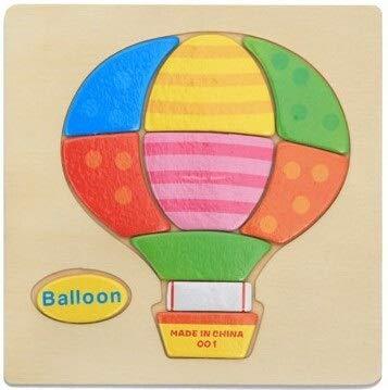 Sfappl a De Baby Houten Speelgoed 3D-puzzel Intelligentie Cartoon Dieren, De Opvoeding Van Kinderen Puzzel Tangram Trailer For Kinderen Om Te Puzzel Vorm Te Leren dsaf (Cor : Balloon)