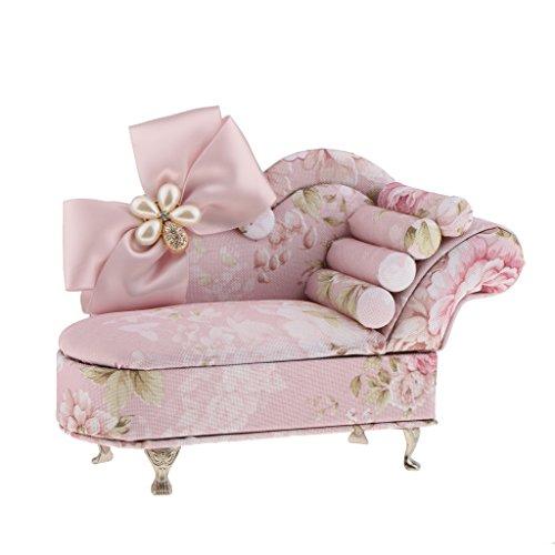 IPOTCH Mini Möbel Form Schmuckkästchen, Schmucklade, Schmuckbox, Schmuck Schachtel Etui für Halskette, Ohrringe, Kosmetik, Perlen - Sofa