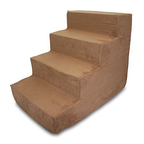Best Pet Supplies ST205T-M Foam Pet Stairs/Steps, 4-Step, Light Brown