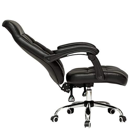 HIZLJJ Muy acolchadas Silla de oficina, respaldo alto Silla ejecutiva de cuero de imitación cómodo sillón reclinable juegos de PC Silla giratoria Silla de escritorio del ordenador, Muebles for el Hoga