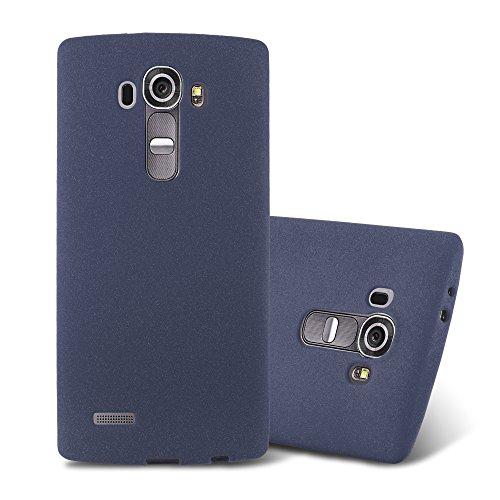 Cadorabo Hülle für LG G4 / G4 Plus in Frost DUNKEL BLAU - Handyhülle aus flexiblem TPU Silikon - Silikonhülle Schutzhülle Ultra Slim Soft Back Cover Hülle Bumper