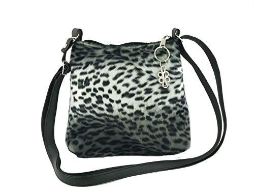Loni Womens Trendy Animal Print Faux Fur Shoulder Bag/Cross-Body Bag in Cheetah Small