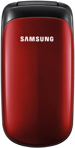 Samsung E1150 Flip Fold Sim Free Mobile Phone - Ruby Red