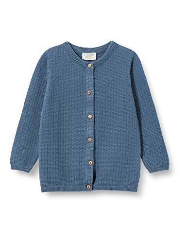 Fixoni Baby-Jungen Knitted Cardigan Bluse, China Blue, 74