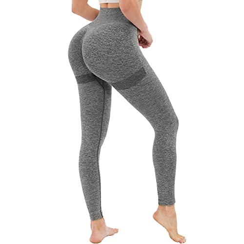 OUDOTA Damen High Waist Sports Leggins Lange, Blickdicht Sport Seamless Leggings Slim Fit Hohe Taille, Sporthose Fitnesshose Yogahose Damen Jogginghose mit Duft für Zum Gym Workout Freizeit