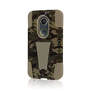 Motorola Moto X Case  2nd Gen 2014   XT1096  MPERO IMPACT X Series Dual Layered Tough Durable Shock Absorbing Silicone Polycarbonate Hybrid Kickstand Case for Moto X  2nd Gen 2014  [Perfect Fit & Precise Port Cut Outs] - Hunter Camo
