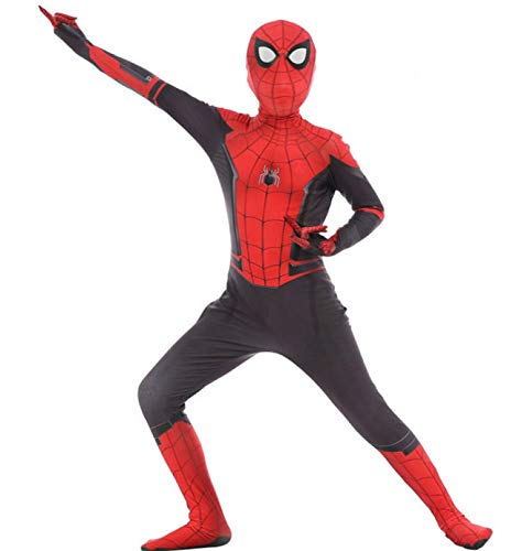 Spiderman kostuum kinderen full-body pak film kostuum bodysuit superheld set heren kinderen Small