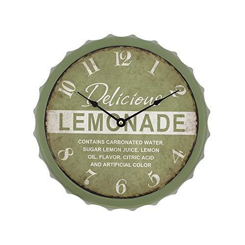 Ixia Reloj de Pared Chapa Botella Lemonade Vintage