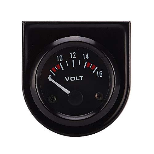 Auto klok dashboard 52 mm auto spoor auto 8-16 V voltmeter, geschikt voor alle soorten voertuigen