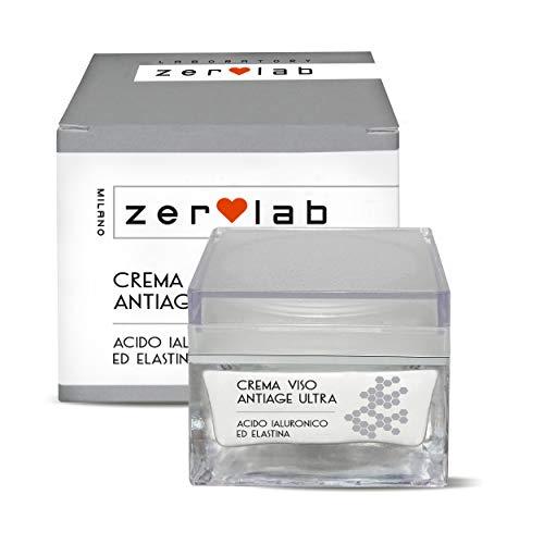 Zerolab Crema Viso Antirughe Acido Ialuronico Antiage Super Strong Crema Idratante Made in Italy