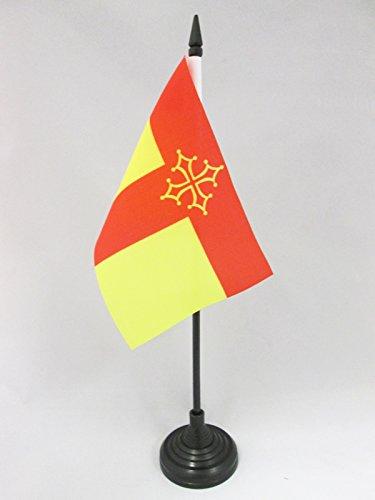 AZ FLAG Bandera de Mesa de Tarn 15x10cm - BANDERINA de DESPACHO Departamento DE Tarn - Francia 10 x 15 cm