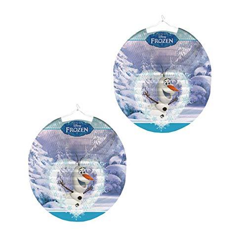 Die Eiskönigin Lampion Olaf | rund 25 cm | Disney Frozen | Kinder Laterne