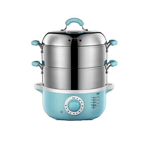 SCRFF Dampfer Set mit 4L Elektrische Dampfgarer Elektroherd Schnellkoch Gemüse Edelstahl große Kapazitäts-Anti-Dry Intelligent