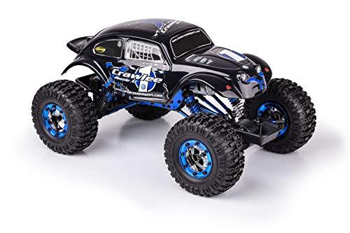 RC Auto kaufen Crawler Bild 3: Carson 500404169 500404169-1:10 X-Crawlee XL Beetle 2.4G 100% RTR, Ferngesteuertes Auto, RC, inkl. Batterien und Fernsteuerung, Crawler, Offroad, Robustes Fahrzeug, schwarz*