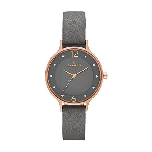Skagen Reloj analógico para Mujer de Cuarzo con Correa en Piel SKW2267