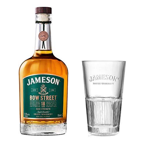 Jameson 18J Bow StreetIrish Whiskey Set mit Tall Glas, Whisky, 18 Jahre, Schnaps, Spirituose, Alkohol, Flasche, 55.3 %, 700 ml