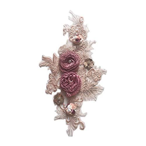 kanggest Patches zum aufbügeln, Rose Blume Patches für Kleidung Blumen Aufnäher Applikation,Flicken Zum Aufbügeln Niedlich Bügelflicken Rosen für DIY T-Shirt Jeans Kleidung Taschen