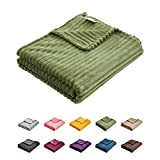 Uozzi Bedding Flannel Fleece Baby Toddler Blanket All-Season Ultra Soft Plush Thin Kids Blanket for Crib -100% Microfiber Polyester Green 39X59 Inch