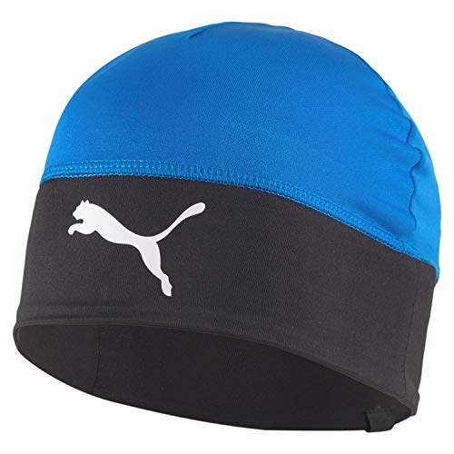 Puma Kinder teamLIGA Beanie Jr, Electric Blue Lemonade Black, OSFA