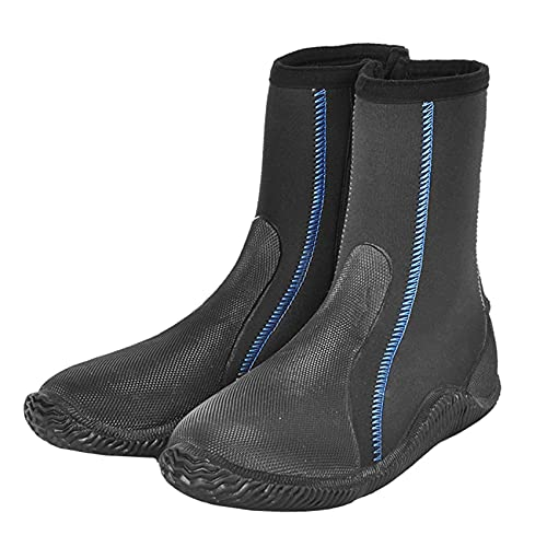POOPFIY Botas de Buceo de 5 mm de Espesor Wading Non-Slight Anti-Thorn Snorkel Snorkel Play Shoes Quick-Secking Aqua Shoes,36