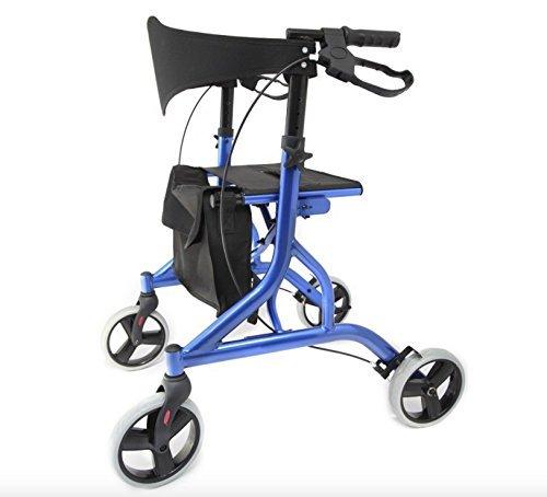 Falcon rollator in alluminio leggero 5.5kg–blu–(idoneo per IVA sollievo nel Regno Unito)