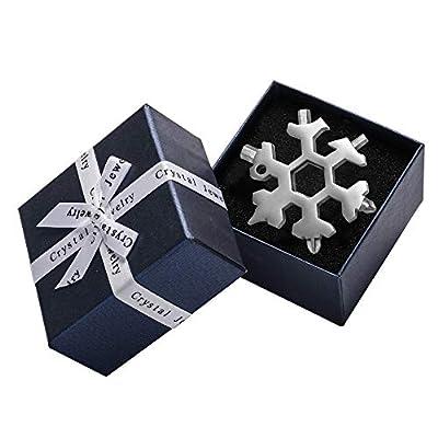 Saker 18-in-1 Snowflake Multi-Tool,AMENITEE 18-in-1 Snowflake Multi-Tool – Easy N Genius - Saker 18-in-1 Stainless Steel Snowflakes Multi-Tool(Silver-GIFT PACKING(including Tool))