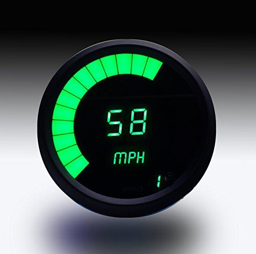 Intellitronx M9222G LED Digital Speedometer, Green/Black