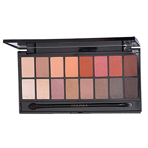 16 Color Sombra de ojos Powder Make Up Waterproof Matte Lentejuelas Rosado Sombra Resplandecer Brillante Sombra Polvo Dorado