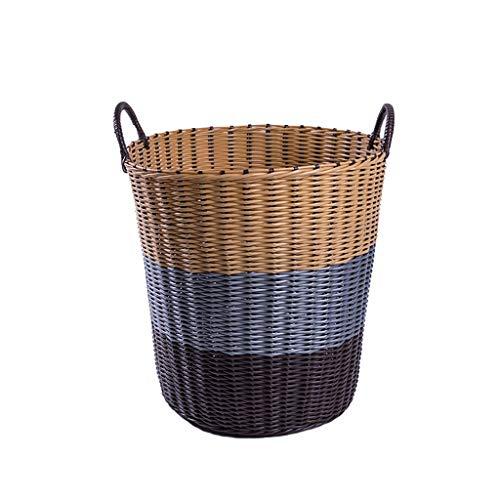 GSHWJS Cesto de plástico, Ropa Sucia, Canasta de Almacenamiento, Ropa, Canasta, Juguetes, Caja de añil, lavandería doméstica, Cubo Cesto de la Ropa (Size : Small)