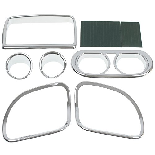 HDBUBALUS Chrome Inner Fairing Speedometer Dash Gauge Radio Speaker Trim Kit Fit for Harley Road Glide 2015-2019