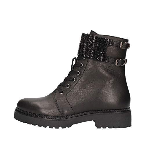 Apepazza Damen Boots Isabel Leder Absatz 3,5 cm schwarz NEU