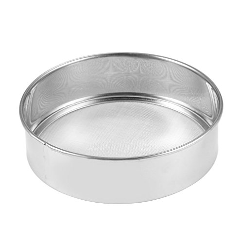 Stainless Steel Mesh Flour Sifter Mechanical Baking Icing Sugar Shaker Sieve Strainer Mesh Powder Cake Baking Kitchen Tool