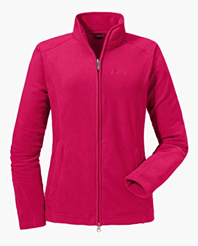 Schöffel Damen Fleece Jacket Leona2 Fleecejacke, Rot (Jazzy), 40
