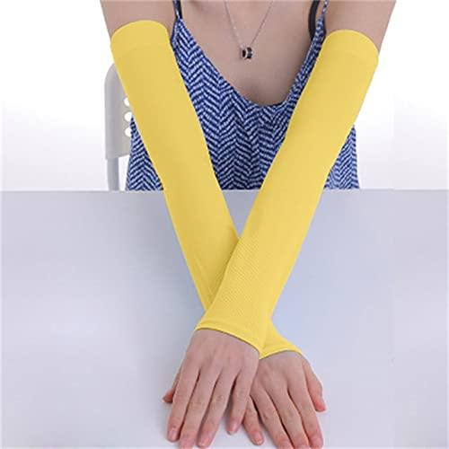 UKKD Guantes Cubierta De Armo Ciclo Cubierta UV Protección UV Ejecutando Caliente Más Calentador Hombros Y Mujeres Seda De Hielo Refrigeración De Sol Protección del Sol Cuffs-Yellow