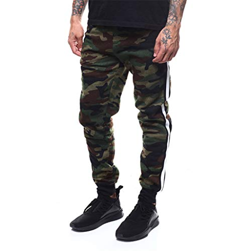 Great Features Of Men Casual Pants,Men's Overalls Athletic Casual Jogger Fashion Sweatpants with Pockets (Camouflage, XXXXL)