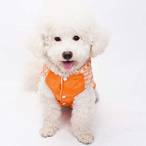 AUED Halloween Kleidung Haustier Hund Die Neue Baumwolle Mantel Weste Cosplay Haustier Welpen Kleidung Nähen Haustier Hund Halloween Haustier Hund Kostüm Cosplay Party Schwarz Gelb,Orange,L
