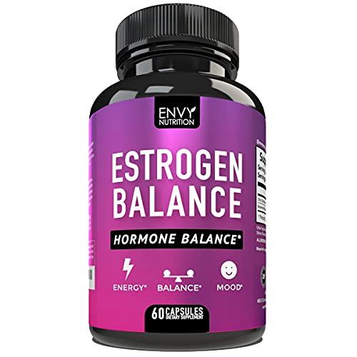 Estrogen Balance - Hormone Balance for Women with DIM- Menopause Relief, Estrogen Blocker and Hormonal Acne Treatment - Plus BioPerine - 60 Capsules