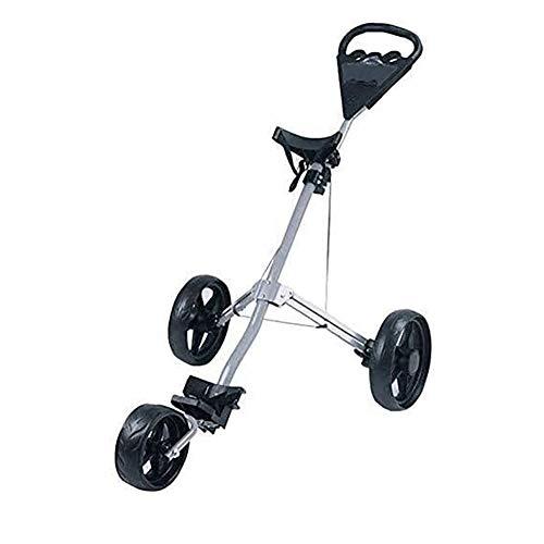 HLR Golftrolley Zieh Golfcarts Golf Rollwagen, 3 Räder Faltbare Golf Club Push-Pull-Wagen Trolley Golf Handwagen Klapprahmen Leichtes Durable praktisches Design (Color : B)
