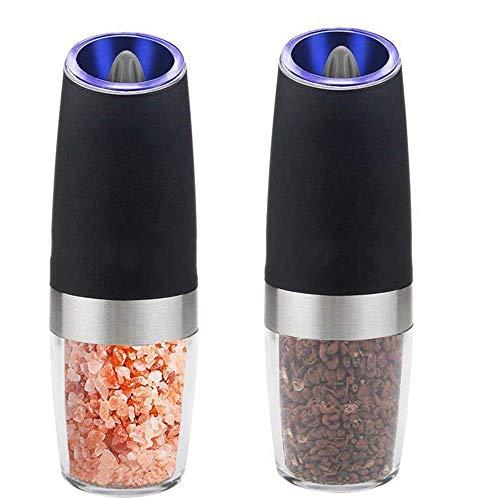 2本セット岩塩ミル 粗さの調節が可能 片手でラクラク操作できる 電動ペッパーミル 傾けるだけで挽け 配達3〜5労働日まで