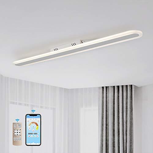 EYLM Lámpara techo 40W LED moderna Lámpara controlada por App de teléfono móvil y control remoto Ideal para oficina y comedor [Clase de eficiencia energética A ++]