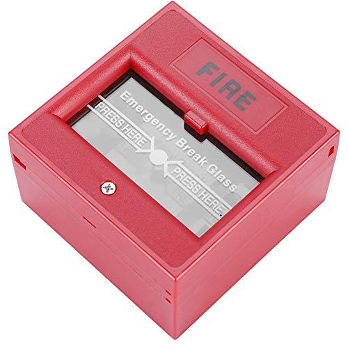 DAUERHAFT Botón de Alarma de plástico Duradero Botón de Emergencia contra Incendios Botón de Alarma de Rotura para Puertas de Salida Panel de Chorro de de Control eléctrico de Estilo Elegante Fácil