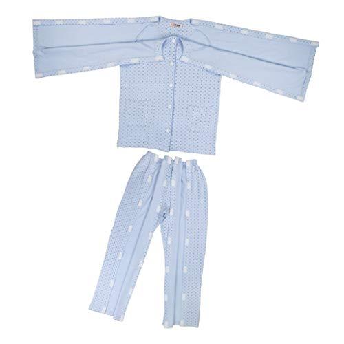 P Prettyia Männer Pflegekleidung Pflegehemd Krankenhemd Patientenhemd Krankenhaushemd, Einfach anzuziehen - M