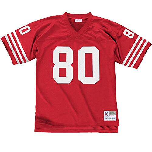 Mitchell & Ness San Francisco 49ers Jerry Rice #80 1990 Replica Jersey, Red, Large