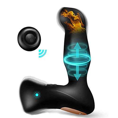 Prostata Stimulator Vibrator Analvibrator mit Schubring auf & ab 8 Vibrationen, Orlupo Heizung Ferngesteuerter Analvibratoren Analplug mit Stoßfunktion, Anal Sexspielzeug für Männer, Frauen & Paare