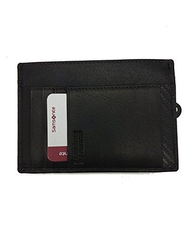 Leather Credit Card Holder Samsonite Coin Purse RFID Dark Brown Premium Leather 10V851