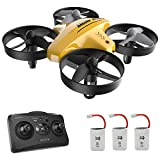 Mini Drone, RC Helicopter Quadcopter para, Niños y Principiantes con, control remoto, Rotación 3D, Modo sin cabeza, Mantenimiento de altura, 3 velocidades, 3 pilas, Regalo para Niños y Principiantes