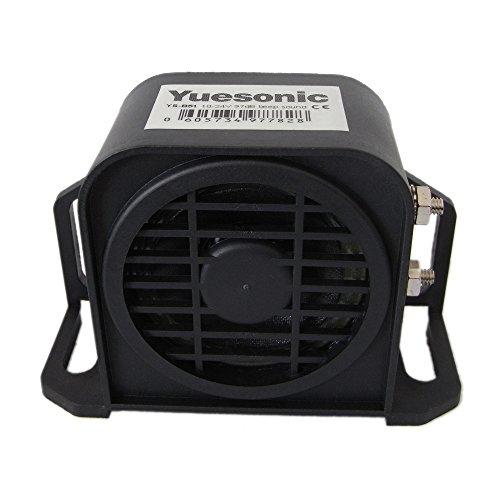 Yuesonic 97dB Wasserdicht Beep Sound Backup Alarm Rückfahrwarner für 12/24V Fahrzeuge