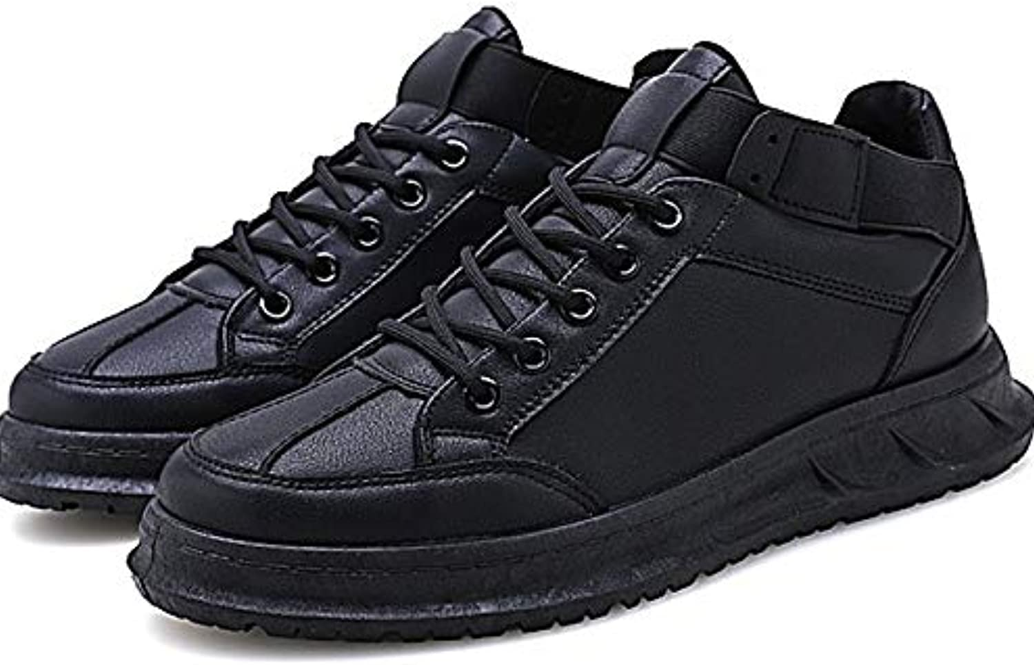 Anstorematealliance Outdoor&Sports shoes Round Head Lace-up Lightweight Casual shoes for Men (color Black Size 39)