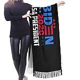 wupinpai Sciarpa con frange in cashmere 2020 Sciarpa invernale extra large da donna presidente USA
